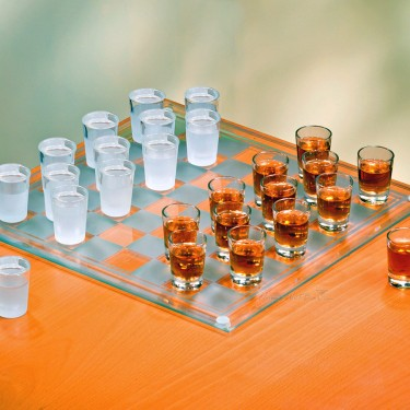checkers shot glass game